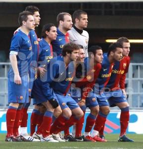 Barça B que se enfrento al Benidor