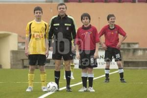 Juan Alzamora con los capitanes
