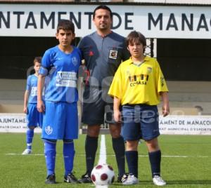 Miguel Morey con los capitanes