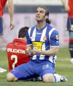 Ivan Alonso tras fallar una ocasión el domingo en Pamplona