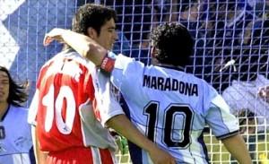 Maradona y Riquelme