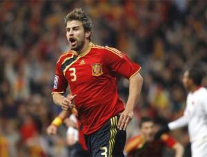 Piqué autor del Gol de España