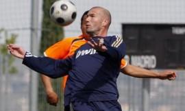 Zidane durante el partido
