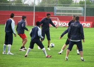 Imagen del entrenamiento del R. Mallorca