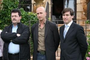 Miguel Jaume, Toni Pastor y el presidente de la Liga, Sr. Gascon