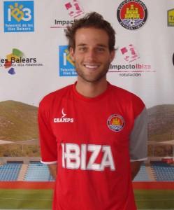 Jonan García en su presentación con el Ibiza