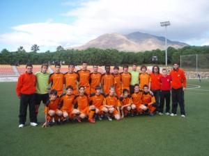 La Selección cadete tercera de España.