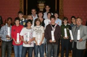 Francina Armengol con los Alevines Sub-campeones de Espña