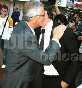 Michel y Manzano se saludan www.reportajesfotograficos.com