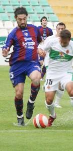 Biel Medina. El central de Ciutadella en un partido con el Eibar