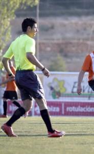 José Roig durante el partido en el que fué agredido