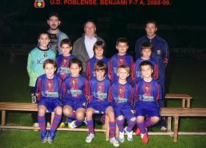 Foto oficial del equipo benjamín F7 del Poblense, www.poblense.com
