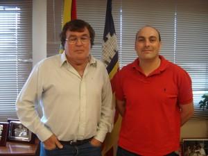 Miguel Bestard con Tomás Cladera