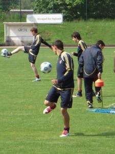 Entreno de la Selección Española