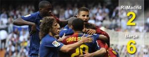 El Barça vence en el Bernabeu
