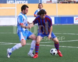 Sergio García en el partido frente al Alcudia