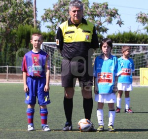 Vicente Dominguez con los capitanes