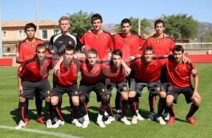 El Mallorca B celebra el titulo de liga