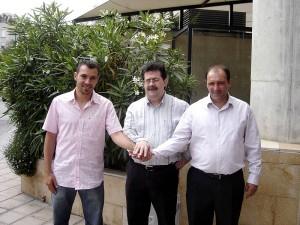 Tirado, M. Jaume y Pato en la presentación