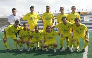 Villarreal B en su partido frente al At. Baleares