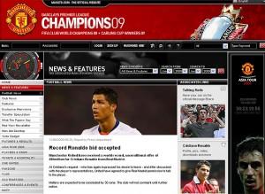 Página web oficial del Manchester United