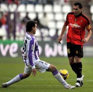 Arango durante el partido disputado en Valladolid esta temporada.  Foto: Alfaqui