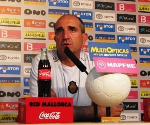 Jaume Bauzá, en la sala de prensa del Ono Estadi