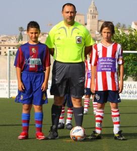 Francisco Parets con los capitanes
