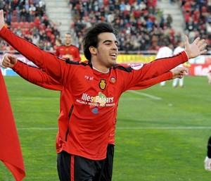 Jurado celebra un gol con el Mallorca