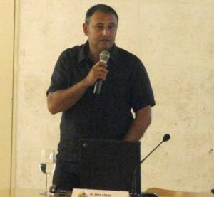 Nico López el día de la presentación del proyecto del Constancia