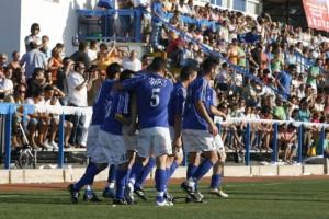 Los jugadores del San Rafael celebran uno de los goles que le marcaron al Margaritense, primer rival de la fase.  JUAN A. RIERA