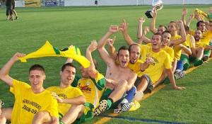 El Son Ferrer celebra el ascenso. Fotoprens