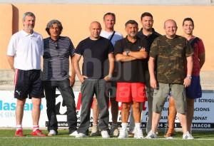 El presidente del Manacor con nuevo equipo técnico.
