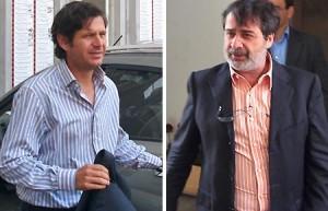 Alemany y Gonzalez ayer en el Ono Estadi