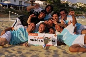 Los Potorrons con su premio, un viaje a Ibiza.