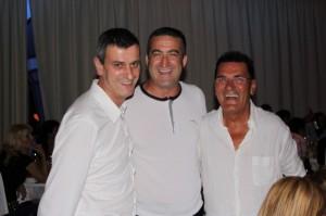 Muñoz Tovar, Peña Molina y Doménech en la cena del Casino.