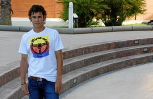 Marcos García, en las instalaciones de Diario de Ibiza el año pasado, cuando asistió a la décima Fiesta del Fútbol Pitiuso. MOISÉS COPA