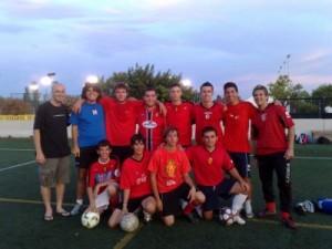 Equipo de la afición del Real Mallorca