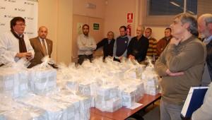 Foto del día de la entrega de las papeletas del sorteo