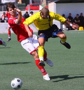 Pau Alberti en el partido frente al Barça de la presente temporada