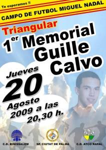 Cartel del Memorial Guille Calvo.