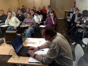 Imagen correspondiente a la primera reunión de presentación del sistema el pasado mes de octubre en la Federación