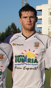 Adrián Rosa cuando jugaba en la Peña S. Eulalia