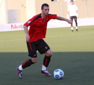 Francesc Campins, en pretemporada con el Mallorca B en Alcudia