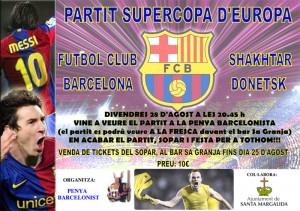 Cartel del partido de la Supercopa del Barça