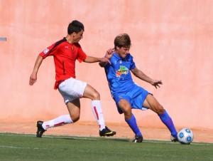 Tomeu Reines, el mejor del Sporting frente al Español B