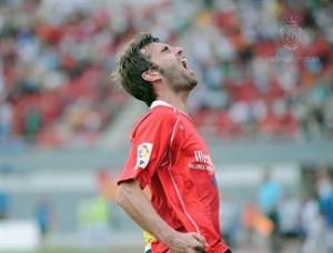 Tuni celebrando el segundo gol del RCD Mallorca