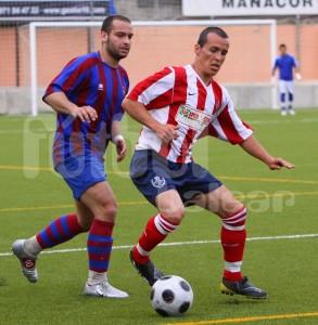 Benji con el Manacor la pasada temporada en el partido frente al Soledad