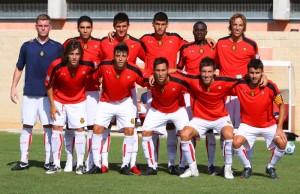 Plantilla del Mallorca B que se enfrento al Sporting. Foto O. Riera