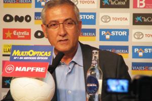 Gregorio Manzano en rueda de prensa